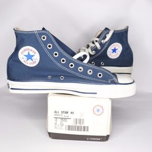 Vintage New Converse All Star Hi Shoes Blue USA